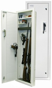 V-Line Between the Studs In-Wall Gun Cabinet, In-Wall Gun Safe