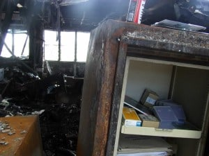 UL Fire Rated Fireproof Safe after Office Fire