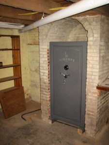 Where to Put a Gun Safe, Gun Safe in Basement Fireplace Foundation