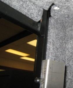 Fireproof Gun Safe Door Frame Showing Fireproofing Cutout