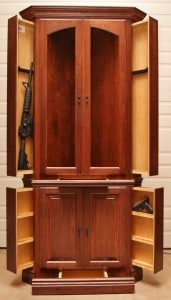 Hidden Gun Safe Cherry Hutch by NJConceal.com