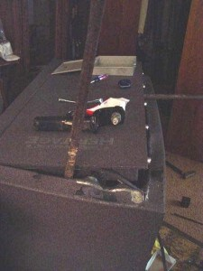 Gun Safe Door Pried Open after pushing it over