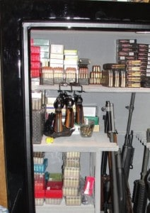 Ammo in a Gun Safe