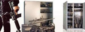 Brown Commercial Double-Door Weapons Safe