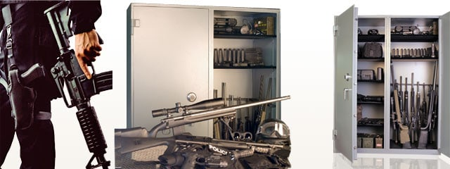 Brown Commercial Double-Door Gun Safe, Large Gun Safe