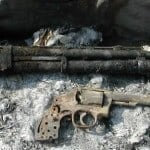 Burned Up Shotgun and Revolver