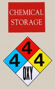Diversionary Chemical Signs for Closet Gun Safe