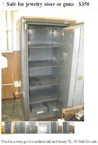 Craigslist Classified TL-30 Used Safe for Sale