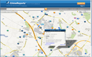 Crime Map at CrimeReports.com