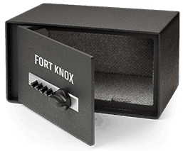 Fort Knox Personal Pistol Box with Simplex Lock