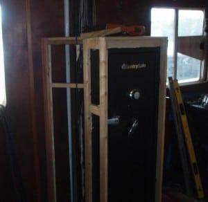 Framing Paneling to Hide Gun Safe
