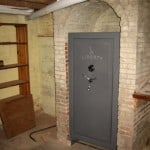 Gun Safe Installed in Basement Fireplace Foundation