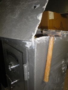 Gun Safe Skip Welds Hammered Open