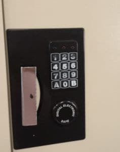Electronic Keypad Wear Showing Combination Hints