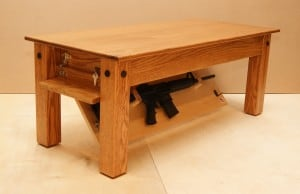 Hidden Gun Safe Coffee Table by NJConceal.com