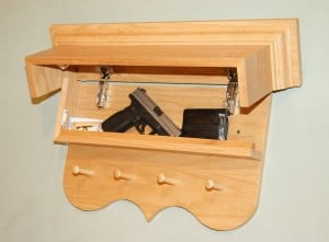 Hidden Gun Safe Classic Coat Rack by NJConceal.com