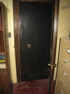 Old Vault Door Hidden Behind Closet Door