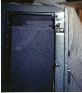 Gun Safe Door Bent Locking Bolts after being Pried Open