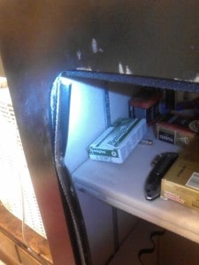 Gun Safe Door Frame after Burglary