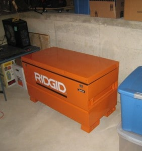 Toolbox Storage Chest used as a Cheap Gun Safe