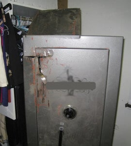 Gun Safe after Saw Attack