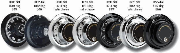 Gun Safe Combination Lock Dials and Rings