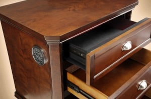 Cherry Cabinet Hidden Nightstand Gun Safe