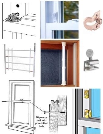 Window Ventilation Locks and Stops