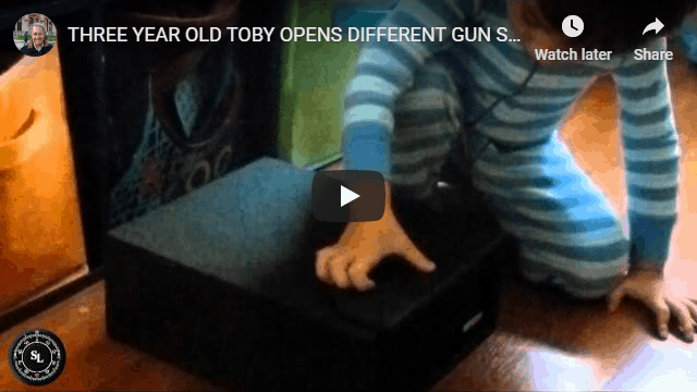 YouTube THREE YEAR OLD TOBY OPENS DIFFERENT GUN SAFES.WMV